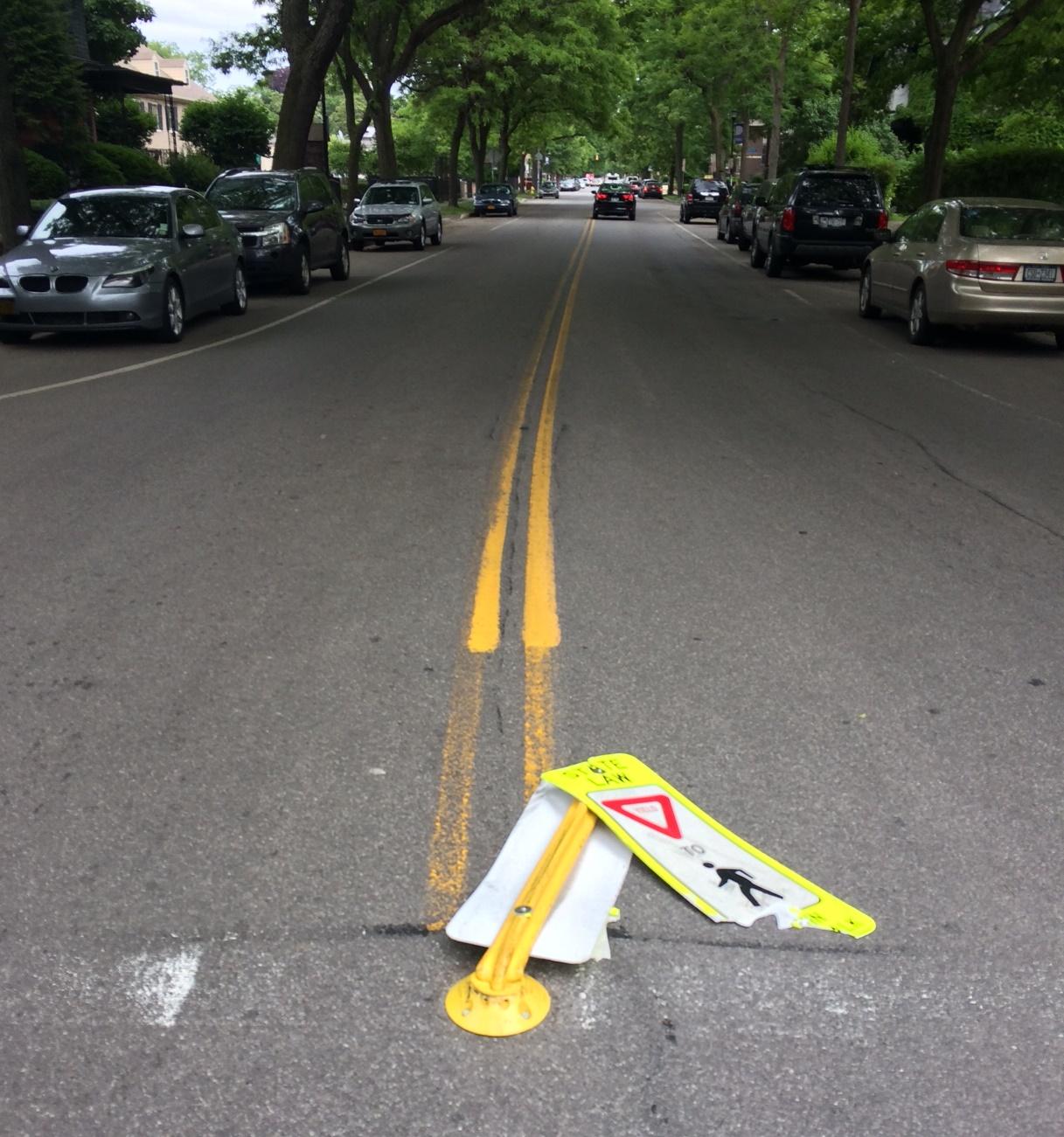 Pedestrian Sign Park Ave [PHOTO: Renee Stetzer]