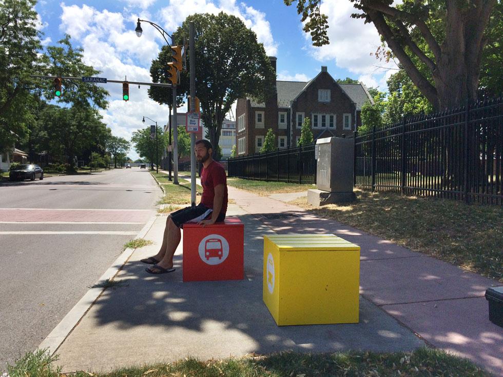 Bus Stop Cubes