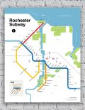 Rochester Subway Map Poster