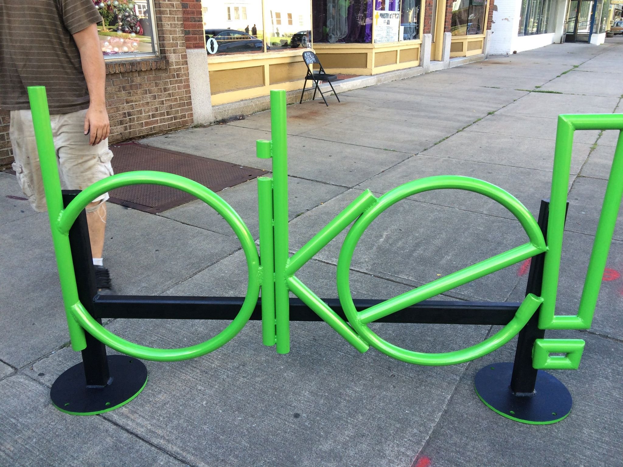 """Bike"" rack on Merchants! [IMAGE: NeighborWorks]"