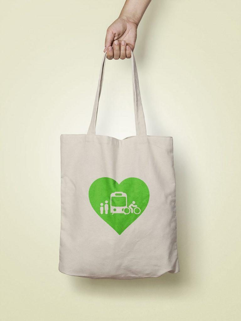 I Love ♥ Transit Tote Bag